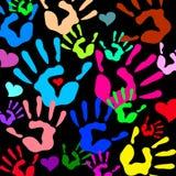 Símbolo del amor del icono de la mano del vector del corazón Imágenes de archivo libres de regalías
