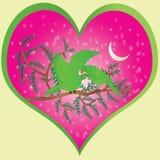 Símbolo del amor del ` s de la tarjeta del día de San Valentín Imágenes de archivo libres de regalías