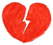 Símbolo del amor quebrado Fotos de archivo