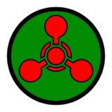 Símbolo del arma química Imagen de archivo