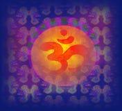 Símbolo del aum de OM en una textura del grunge Foto de archivo