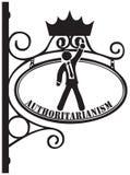 Símbolo del autoritarismo ilustración del vector