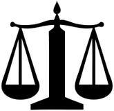 Símbolo del balance de la justicia Imagen de archivo