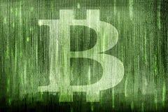 símbolo del bitcoin fotografía de archivo