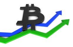 símbolo del bitcoin Imagen de archivo libre de regalías
