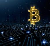 símbolo del bitcoin Imagen de archivo