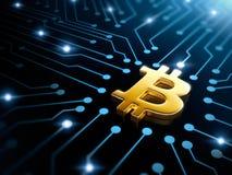 símbolo del bitcoin Foto de archivo