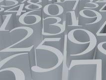 Símbolo del blanco de las matemáticas Fotos de archivo