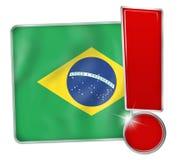 Símbolo del botón del icono del Brasil Foto de archivo libre de regalías