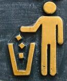 Símbolo del bote de basura Foto de archivo