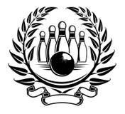 Símbolo del bowling Imagenes de archivo