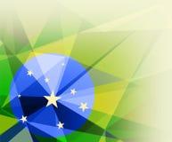 Símbolo del Brasil en diseño del triángulo Imagenes de archivo
