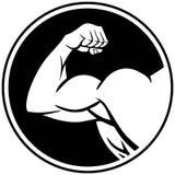Símbolo del brazo fuerte ilustración del vector