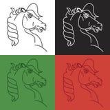 Símbolo del caballo Imágenes de archivo libres de regalías