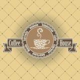 Símbolo del café Fotos de archivo libres de regalías