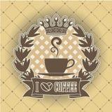 Símbolo del café Fotografía de archivo