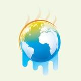 Símbolo del calentamiento del planeta stock de ilustración