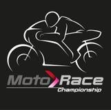Símbolo del campeonato que compite con del motor Foto de archivo