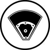 Símbolo del campo de béisbol Foto de archivo