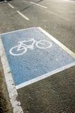 Símbolo del carril de bicicleta Imagenes de archivo