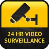 Símbolo del CCTV, botón del Web Foto de archivo