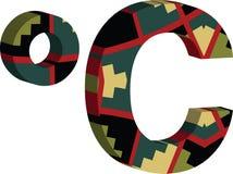 símbolo del celcius 3d Libre Illustration