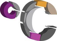 símbolo del celcius 3d stock de ilustración
