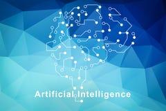 Símbolo del cerebro de la inteligencia artificial libre illustration