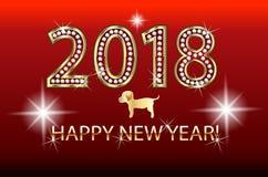 Símbolo del chino del perro de la Feliz Año Nuevo 2018 Imagen de archivo libre de regalías