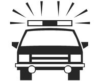 Símbolo del coche Fotos de archivo
