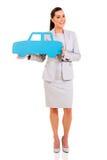 Símbolo del coche de la empresaria Fotos de archivo libres de regalías