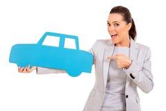 Símbolo del coche de la mujer Fotografía de archivo libre de regalías
