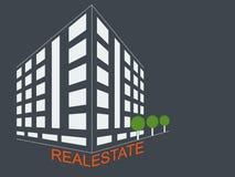 Símbolo del concepto de la arquitectura del desarrollo inmobiliario libre illustration