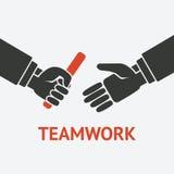Símbolo del concepto del trabajo en equipo de la retransmisión Fotos de archivo