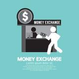 Símbolo del contador de servicio de intercambio de dinero Imágenes de archivo libres de regalías