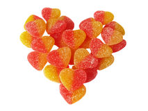 Símbolo del corazón del caramelo de la fruta. Fotos de archivo libres de regalías