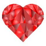 Símbolo del corazón del día del ` s de la tarjeta del día de San Valentín del día de fiesta Fotografía de archivo