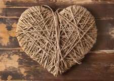 Símbolo del corazón herido con la cuerda Fotografía de archivo libre de regalías