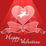 Símbolo del corazón y del cupido stock de ilustración