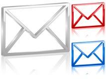símbolo del correo 3D Fotos de archivo libres de regalías