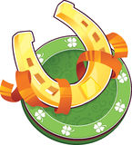 Símbolo del día de St.Patricks. La herradura Imágenes de archivo libres de regalías