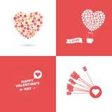 Símbolo del día de tarjetas del día de San Valentín Imágenes de archivo libres de regalías