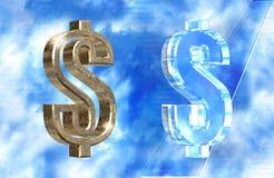 Símbolo del dólar Foto de archivo libre de regalías