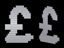 Símbolo del dólar de la libra del GB ensamblado de diamantes Foto de archivo libre de regalías