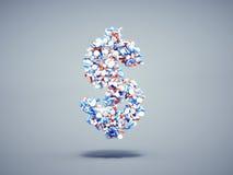 Símbolo del dólar de las píldoras Imagen de archivo libre de regalías