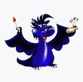 Símbolo del A. del dragón-Nuevo año azul marino. de 2012 Imagenes de archivo