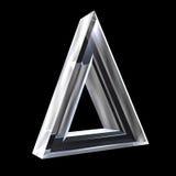 Símbolo del delta en el vidrio (3d) Imágenes de archivo libres de regalías