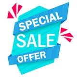 Símbolo del descuento de la etiqueta de la venta de la oferta especial, etiqueta engomada mega del diseño de la oferta de la vent Fotografía de archivo libre de regalías