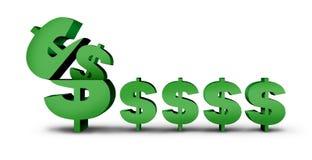 Símbolo del dinero de la ganancia ilustración del vector