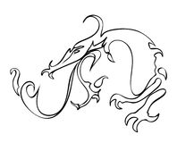 Símbolo del dragón del fuego Fotografía de archivo